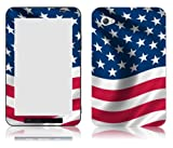Bundle Monster Samsung Galaxy Tab 7.0 Vinyl Skin Cover Art Decal Sticker Protector Accessories - Red White and Blue