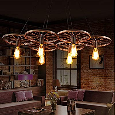 6 bulbs Vintage Industrial ceiling lamp Chandelier Pendant Lights Edison Globe ;TM79F-32M UGBA324203