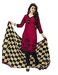 Aarvi Women's Cotton Unstiched Dress Material Multicolor -CV00045