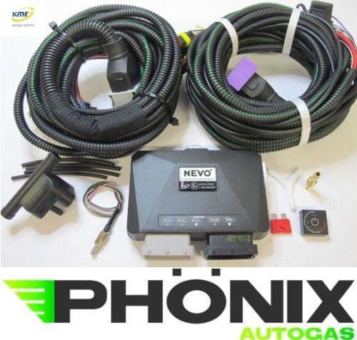 Phönix equipo Gas del coche KME Nevo Pro 8Cilindro unidad de control con OBD Kit de conexión S