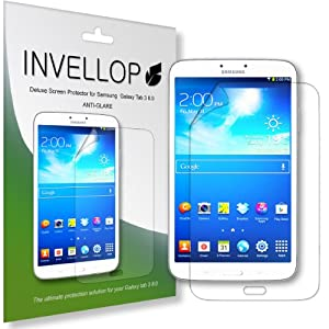 INVELLOP Samsung Galaxy Tab 3 8.0 8inch Anti-Glare 3-pack Screen Protectors