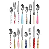Mix and Match Multi Coloured Cutlery Set - assorted set of 16