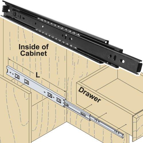 Woodtek 167456, Hardware, Drawer Slides, Ball Bearing, Box Drawer, 18