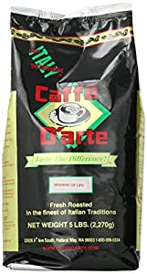 Caffe D'arte Gourmet Meaning of Life Ground Coffee, 5-Pound Foil Bag