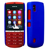 Cellbig Introduces Blue Plain Tough & Defender Hard Hybrid Shockproof Back Case Cover Pouch Shell Holster For Your Nokia Asha 300