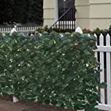 "Best Choice Products® Faux Ivy Privacy Fence Screen 94"" X 39"" Artificial Hedge Fencing Outdoor Decor"