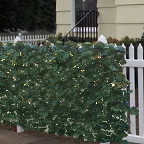 Best choice products faux ivy privacy fence screen 94 x for Outdoor privacy fence screen