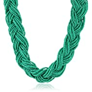 Braided Seed Bead Necklace, 16″ – Just $22.00!