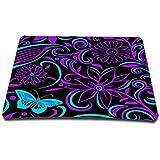 Purple Flower Anti-Slip Mouse Pad Mice Pad Mat Mousepad For Optical Laser Mouse Sale