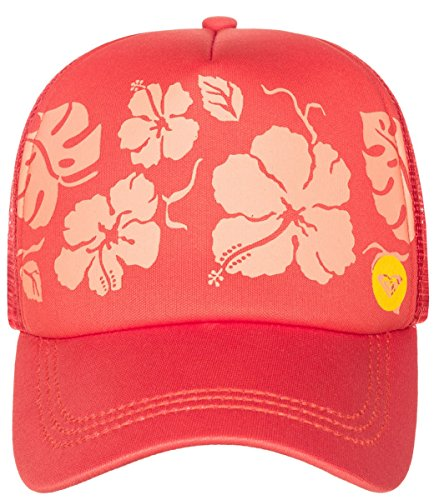 Roxy Roxy Junior's Truckin Hat With Mesh Back, Fiery Orange, One Size