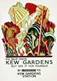 R44 Vintage London Underground Kew Gardens Palm House Travel Poster Re-Print - A4 (297 x 210mm) 11.7
