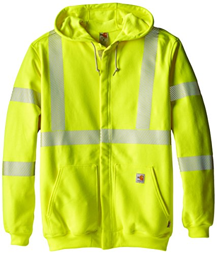 Carhartt Men's Big & Tall Flame Resistant Heavyweight High Visibility Sweatshirt,Brite Lime,Large Tall