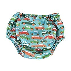 Little Dolfins Swim Diaper-VROOM VROOM Large