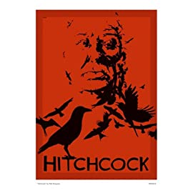 Hitchcock the birds Poster Art Print By Matt Ferguson (MSP 0019)