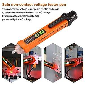 Non Contact Voltage Tester Pen Flashlight, Electric AC Voltage Detector Pen, Electrical 12-1000V compact pocket battery Multimeter voltage tester indu