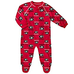 NCAA Georgia Bulldogs Raglan Zip Up Coverall, Red, 6-9 Months