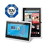 Chromo Inc Tablet - 7 inch HD touchscreen Android Tablet - Updated with TUV quality certification - White