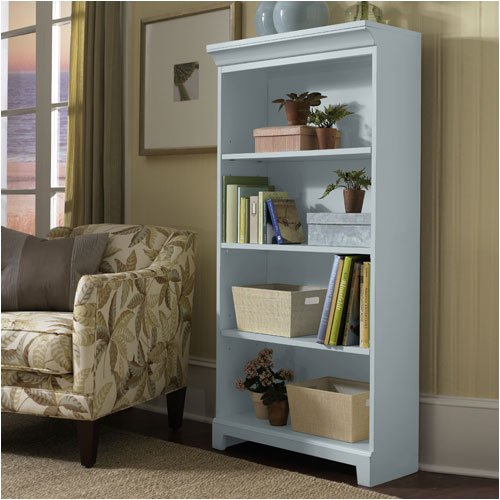 "Riverside Furniture 52239 Spring Street 60"" H Bookcase in Clear Blue Skies"