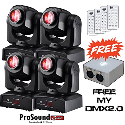 American Dj Inno Pocket Spot Led (4) - Free Adj My Dmx2.0 Controller, Control Remote (4) (Prosoundgear Authorized Dealer)