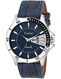 amazon in blue watches carson analogue blue dial men s watch cr1535