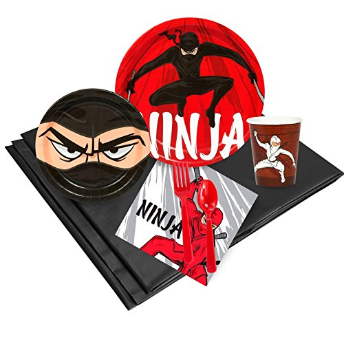 Ninja Warrior Party Supplies - Party Pack for 24