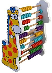 PIGLOO Baby Giraffe Wooden Abacus for Kids Ages 3+ Years
