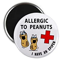 ALLERGIC TO PEANUTS EPIPEN Medical Alert 2.25 inch Fridge Magnet from Creative Clam
