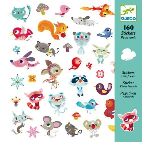 Djeco DJ08842 Stickers-Small Friends Novelty