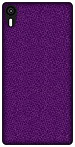 The Racoon Lean Mesh Purple hard plastic printed back case / cover for Lenovo Vibe Shot