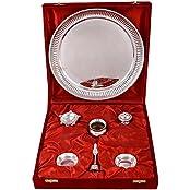 German Silver Plated Pooja Plate Pooja Thali Pooja Articles Dealer Silver Wilver Silver Plated GL Pooja Thali...