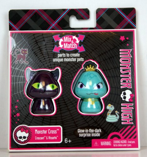 Monster High Monster Cross Mix Match Mini Figure 2Pack Crescent Hissette