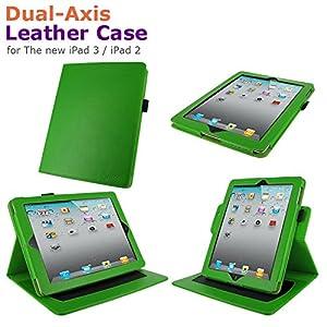rooCASE doble eje real (verde) Funda de piel para Apple iPad 4 / 3 / 2 (automáticamente se despierta y pone el iPad a dormir)  Electrónica Revisión del cliente y más noticias