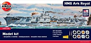 Airfix A50070 Royal Navy HMS Ark Royal 1:600 Scale Plastic Model Gift Set