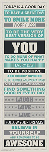Be Awesome Inspirational Motivational Happiness Quotes Decorative Poster Print 12x36