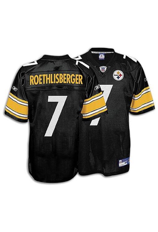 brand new 320f8 6213d Amazon.com : Ben Roethlisberger Pittsburgh Steelers Black ...