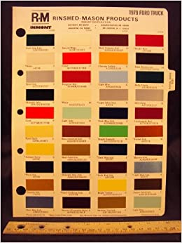 1979 ford truck paint colors for Ford motor paint colors