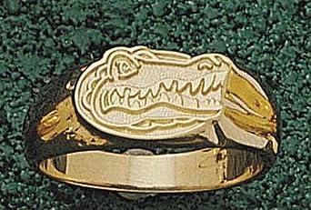 Florida Gators Gator Head Mens Ring Size 10 1 4 - 14KT Gold Jewelry by Logo Art