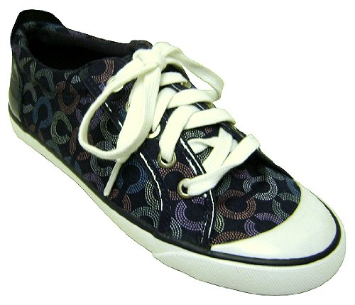 Coach Barrett Dot Op Art Navy Tennis Shoes