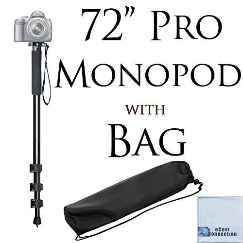Pro Series 72″ Monopod w/ Quick Release For Canon, Nikon, Sony, Samsung, Olympus, Fujifilm, Panasonic & Pentax + Microfiber Cloth