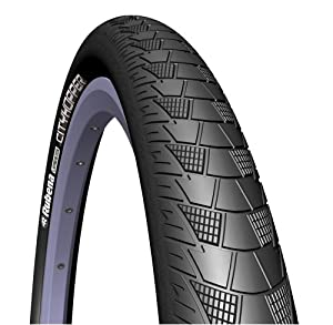 Rubena V99 City Hopper Bicycle Tire with Anti-Puncture System and Reflective Sidewall (Black, 26x2.0-Inch) at Sears.com
