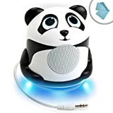 GOgroove Ultimate Gaming App Speaker with Panda Design , Booming Bass and LED Base - Works With Candy Crush Saga , Angry Birds , Minecraft , Buddyman: Kick , Goblin Sword and More Gaming Apps **Includes Cleaning Cloth**