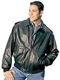 Reed® Men's Tall Bomber Leather Jacket Union Made in USA by NYC Leather Factory Outlet