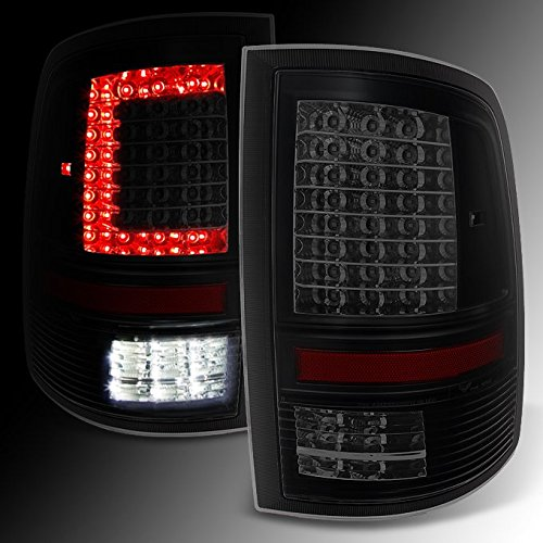 DODGE RAM 1500 | 2500 | 3500 *C-Shaped* Black Smoked LED Tail Lights Left + Right Side Replacement (Smoked Tail Lights Dodge Ram compare prices)