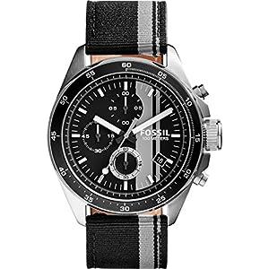 Fossil Men's CH2959 Decker Chronograph Nylon Watch - Black and Gray