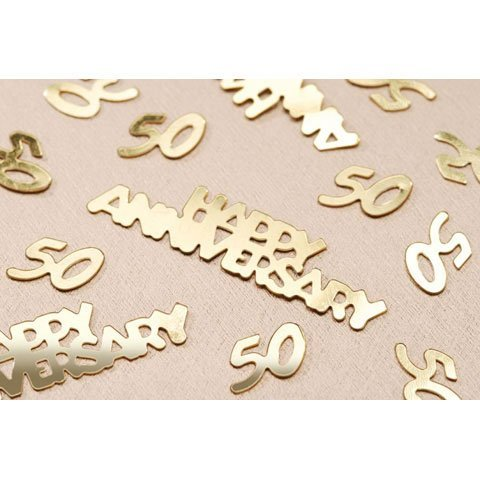 Bulk Buy: Darice DIY Crafts 50th Anniversary Confetti Gold 14 grams (6-Pack) V1630-50
