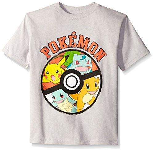 Pokemon Little Boys Ball Short Sleeve Tee, Silver, Small/4