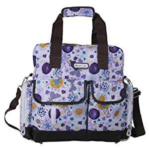 ecosusi large baby diaper bags backpack violet flowers baby. Black Bedroom Furniture Sets. Home Design Ideas
