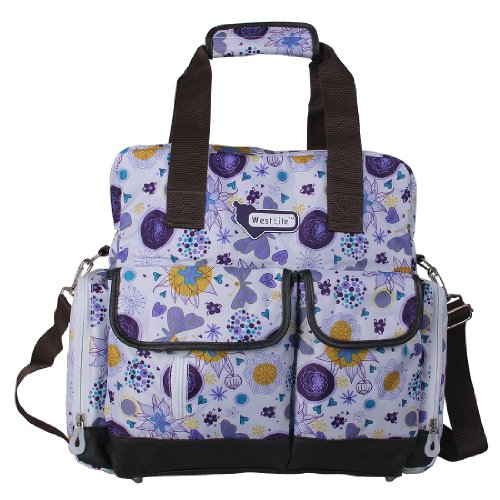 ECOSUSI Diaper Backpack Diaper Bags Baby Bags Large Capacity (Purple Dot) - 1