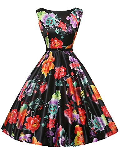 's Vintage Inspired Dresses for Women Size L F-1