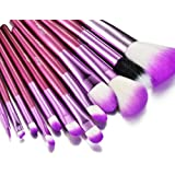 Glow 12 Piece Crocodile Leather Design Professional Makeup Brushes in Purple Case